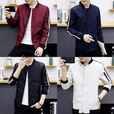 Stand collar Bomber Jacket Casual Slim Over coat Men's Jackets Fashion Coats