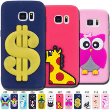 TPU 3D Case Soft Gel Silicone Protective Rubber Cute Skin Cover Back For Samsung