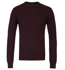 Hackett Maroon Lambswool Crew Neck Sweater