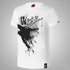 Game of thrones Theme T-shirts White Ink Print House Stark Tshirts Winter