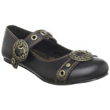 DEMONIA DAISY-09 Steampunk Maryjane Gear Buckle Women Punk Gothic Flat Shoe