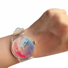 Lady Girl's Durable Transparent Novelty Crystal Watch Quartz Watches Band Gift
