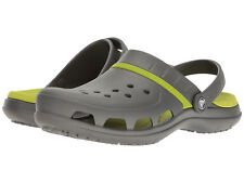 NEW MEN WOMEN CROCS SANDAL MODI SPORT CLOG GRAPHITE VOLT GREEN ORIG 204143-0A1