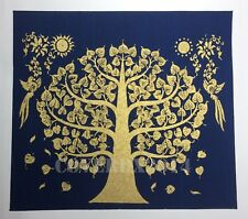 VTG The Bodhi Tree Oriental Painting on Silk Made in Thailand