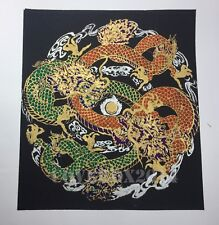 VTG Dragon Oriental Painting on Silk Made in Thailand