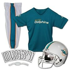 Miami Dolphins Youth Uniform SetAges 4-6 Helmet Pants Jersey Team Soccer Fan NFL