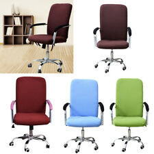 Chair Cover Comfortable Office Armchair Seat Swivel Chair Slipcover 4 Colors