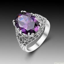 Amazing Hot Sweet Jewelry Amethyst 925 Sterling Silver Gemstone Ring size 7 8 9
