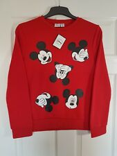 PRIMARK LADIES MICKEY MOUSE AUTUMN JUMPERS GREY/RED BNWT