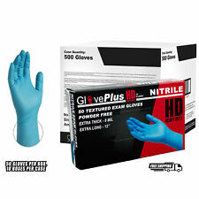 GlovePlus Blue Nitrile Exam Latex Free Disposable Gloves (Case of 500)