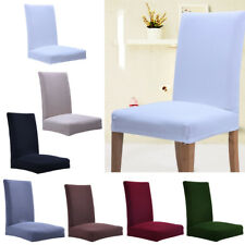 Removable Stretch Slipcovers Dining Room Thicken Fabric Chair Cover 6 Colors