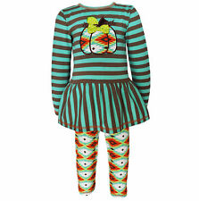 AnnLoren Girls Boutique Aztec Pumpkin Patch Fashion Set 12/18 mo - 11/12yrs