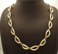 """18""""  Technibond Marquise Link Chain Necklace 14K Yellow Gold Clad 925 Silver"""