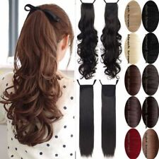 New Ponytail Clip In Hair Extension Tip up Pony Tail Fake Hairpiece For human AP
