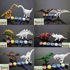 T-Rex Tyrannosaurus Brachiosaurus Paint the Dinosaur Figure Model Toy Set