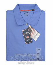 Mens IZOD Polo Shirt Short Sleeve Pima Cotton Golf Blue Purple White L XL 2XL
