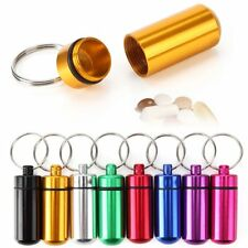 Practical Waterproof Keychain Capsule Cash Clip Stash Keyring Key Pill Case Box