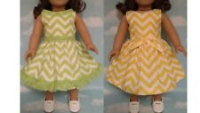 """Dress handmade to fit 18"""" American Girl Doll 18 inch Doll Clothes 9ab"""