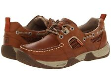 NEW Mens SPERRY TOP-SIDER Sudan Tan Leather Mesh SEA KITE SPORT Moc Boat Shoes