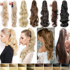 US 100% Real as Human Make Claw on Clip In Hair Extension Pony Tail Ponytail P96