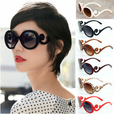 Retro Fashion Womens Vintage Oversized Flower Frame Sunglasses Shades Elegant