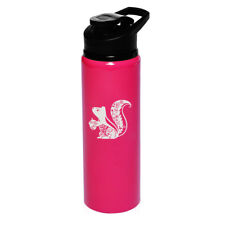 25oz Aluminum Sports Water Bottle Travel Fancy Squirrel