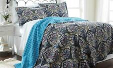 New Reversible Coverlet 3 Pcs Bedspread Quilt set Shams KING /QUEEN size Carly