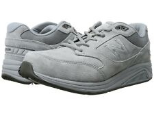 NEW Mens NEW BALANCE Light Grey/White Suede MW928v3 Walking Shoes