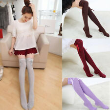 1 Pair Fashion Socks Stocking Lady Thigh High The Knee Women Girl Autumn Over