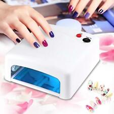 36W  UV Lamp Nail Art Dryer Gel Polish Curing manicure With 4 Bulbs & Timer AM