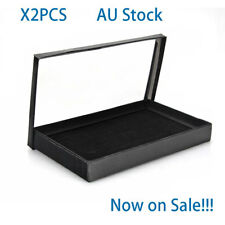 Display Tray Velvet Pad Rings Storage Show Case 100 Grids Holder Sales!!!Jewelry