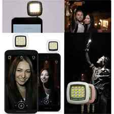 1XPortable Fun Smartphone Selfie Mini 16 LED Flash Fill Light For Samsung iPhone