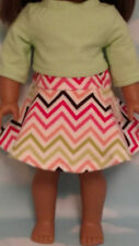 """Skirt Set handmade for 18"""" American Girl Doll to fit 18 inch Doll Clothes 561ab"""