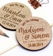 Save the Date Magnets Rustic Wooden Wedding Fridge Magnets Personalised