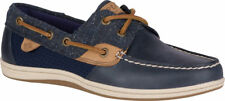 NEW Womens SPERRY TOP-SIDER Navy Tan Tweed Leather KOIFISH CORE Boat Shoes
