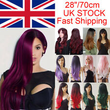Long Synthetic Hair Wigs Cosplay Wavy Full Wig Ombre Halloween Party Dress By65