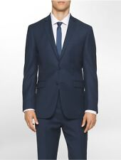 calvin klein mens body slim fit navy suit jacket