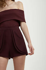 NEW Women's Shorts Long Gone Short Aubergine By C/Meo Collective