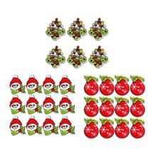 MagiDeal 50x Christmas 2 Holes Wooden Buttons Embellishments DIY Xmas Card Craft
