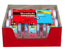 "Scotch Heavy Duty Shipping Packaging Tape with dispense 1.88"" x 800"" 6 Rolls"