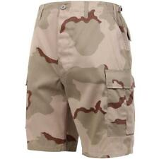 Tri-Color Desert Camouflage - Military Cargo BDU Shorts - Polyester Cotton Twill