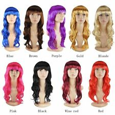 Sexy Lady Party Wigs Bright Color Curly Straight Bob Halloween Cosplay Rtg
