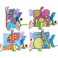 Infant Baby Kid Child Crinkle Charming Tails Cloth Book Development Toy