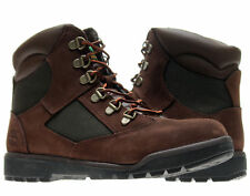 Timberland 6-Inch Field Boot Brown/Green Junior Kids Boots 44992