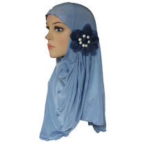 Muslim Hijab Islamic Scarf Woman Amira Cap Beautiful Drill on Head with 7 Pearls