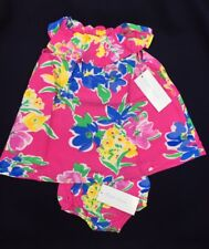 RALPH LAUREN Baby Girl Ruffled Floral Dress and Bloomer MSRP $55 NEW NWT