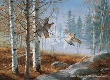 David Maass Morning Double - Ruffed Grouse Artist's Proof on Paper Remarqued