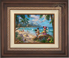 Thomas Kinkade Mickey and Minnie in Hawaii 12 x 16 Limited Edition S/N Canvas