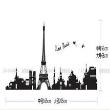 New Large Size Eifel Tower Vintage Wall Sticker MURAL Buildings Decal Decor s1