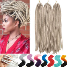 "20 Colors Faux Locs Dreadlocks Crochet Braid Hair 24"" 20Roots Hair Extensions PN"
